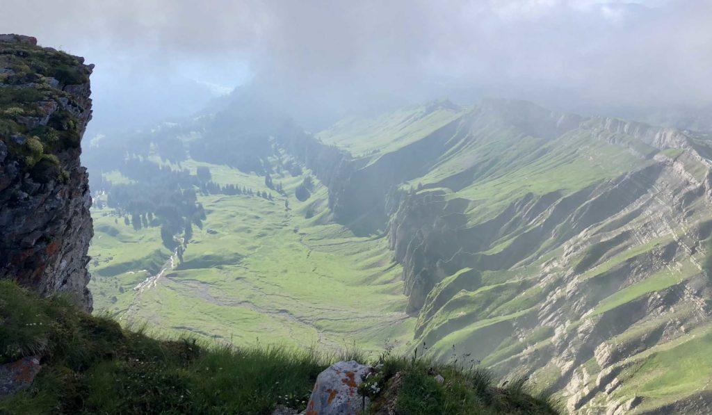 Blick vom Hohen Ifen ins Tal